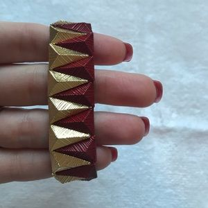 Red and Gold stretch bracelet. NWOT.